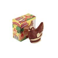 Caja conteniendo una Figura de chocolate felfort con forma de gallina de 80 gramos