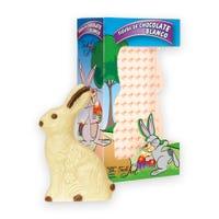 caja conteniendo un conejo de chocolate blanco felfort de 250 gramos